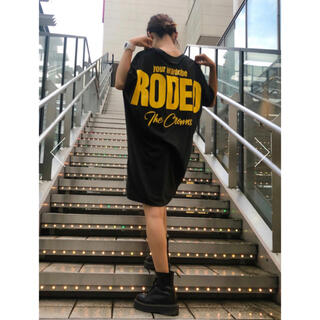 RODEO CROWNS WIDE BOWL - ロデオ ★バックBIGロゴワンピース