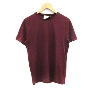 グッチ(Gucci)のグッチ Tシャツ カットソー クルーネック ロゴ S ボルドー 赤 レッド(Tシャツ(半袖/袖なし))