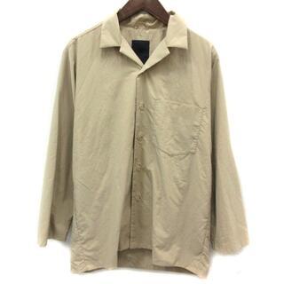 デサント(DESCENTE)のデサント オープンカラーシャツ 長袖 M ベージュ DLMLJC20ED(シャツ)