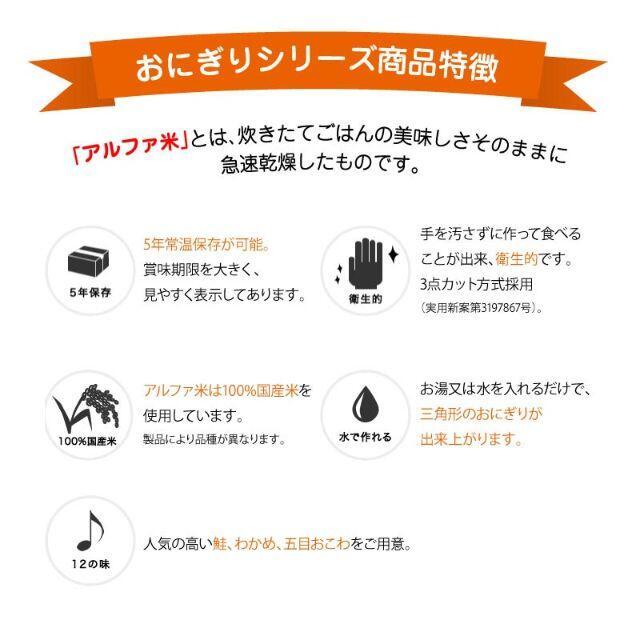 非常食 尾西食品 アルファ米 おにぎり わかめ 保存食 10食 (10袋)セット 食品/飲料/酒の加工食品(インスタント食品)の商品写真