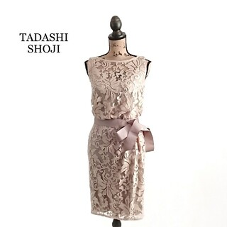 TADASHI SHOJI - TADASHI SHOJI タダシ ショージ ワンピース ベージュ レース