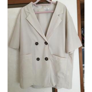 シマムラ(しまむら)のしまむら リネンライク半袖ジャケット(テーラードジャケット)