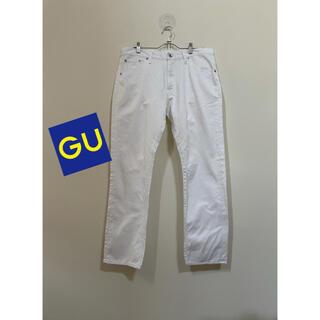ジーユー(GU)のジーンズ ホワイトデニム メンズ GU(デニム/ジーンズ)