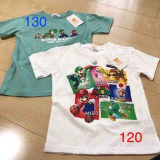 バンダイ(BANDAI)のスーパーマリオ 半袖Tシャツ 120 130 新品(Tシャツ/カットソー)
