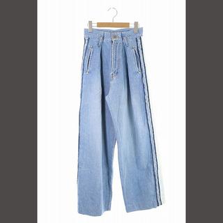 ダブルスタンダードクロージング(DOUBLE STANDARD CLOTHING)のダブルスタンダードクロージング ダブスタ サイドラインワイドデニム パンツ 36(デニム/ジーンズ)