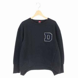 ダブルスタンダードクロージング(DOUBLE STANDARD CLOTHING)のダブルスタンダードクロージング 19年製 スウェット 長袖 裏起毛 36 黒(トレーナー/スウェット)
