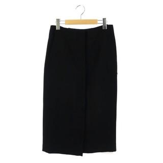 ドゥーズィエムクラス(DEUXIEME CLASSE)のドゥーズィエムクラス 前開きタイトスカート ロング 36 黒 ブラック(ロングスカート)