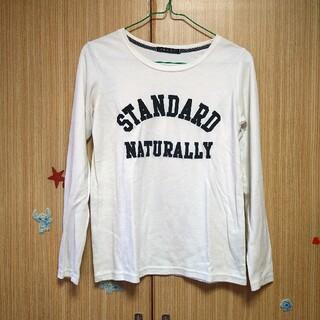 イング(INGNI)の白 Tシャツ ロゴ(Tシャツ(長袖/七分))