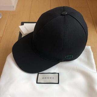 グッチ(Gucci)のGUCCI グッチ 新品タグ付き キャップ ロゴ ベースボール 黒 ロゴ(キャップ)