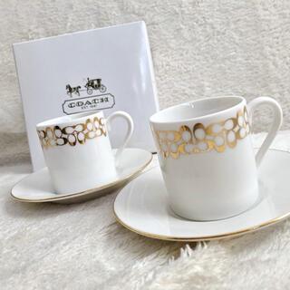 COACH - 新品◾️COACH カップ & ソーサー2セット▪️コーチエスプレッソティー