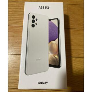 ギャラクシー(Galaxy)の【新品未使用】Galaxy A32 5G ホワイトSimロック解除済(スマートフォン本体)