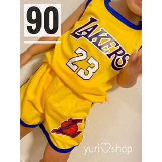 大人気☆キッズセットアップ 男女兼用 Lakers 暑い夏にピッタリ✨