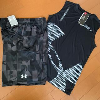 UNDER ARMOUR - アンダーアーマー ノースリーブシャツ&パンツ160サイズ