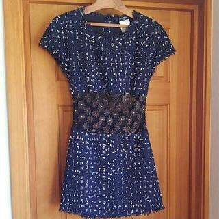 シャネル(CHANEL)の完売CHANEL 11C Open Back Navy Dress(ミニワンピース)