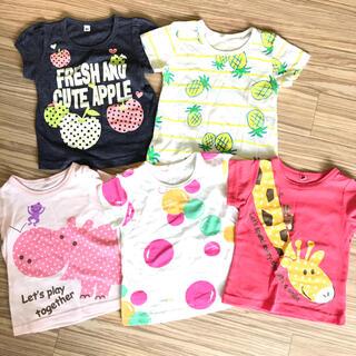 西松屋 - 女の子 Tシャツ 5枚セット まとめ売り 80cm 80