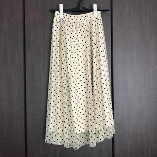 エイチアンドエム(H&M)のH&M ドット柄のチュールスカート(ひざ丈スカート)