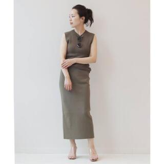 Plage - CO/NY sleeveless tight スカート セットアップ