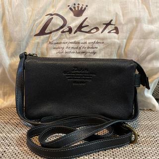 ダコタ(Dakota)の【未使用品】Dakota/本革4WAYお財布ポシェット/ブラック(ショルダーバッグ)