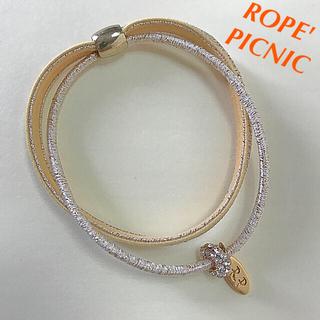 ロペピクニック ゴールドプレート付きゴムブレスレット