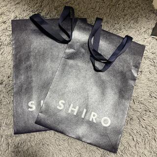 シロ(shiro)のシロ 紙袋 ショッパー 新品未使用 美品(ショップ袋)