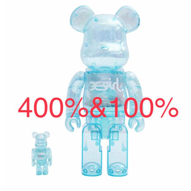 MEDICOM TOY(メディコムトイ)のBE@RBRICK X-girl 2021 100% & 400% エンタメ/ホビーのフィギュア(その他)の商品写真