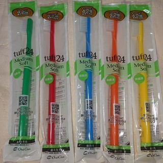 【値下げ】タフト24 ミディアムソフト 歯科専用 歯ブラシ 5本アソートセット