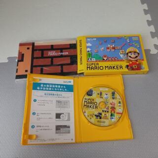 ウィーユー(Wii U)のスーパーマリオメーカー 美品 ブックレット付(家庭用ゲームソフト)