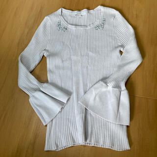 PROPORTION BODY DRESSING - ニット トップス ライトグレー ラベンダー 2 M