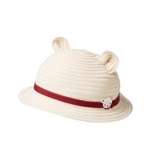 ファミリア(familiar)のyuka様専用♡2点お纏めファミリア くま耳麦わら帽子&おはなしTシャツ90(帽子)