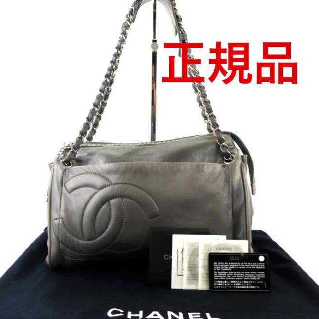 CHANEL(シャネル)のCHANEL シャネル Wチェーンショルダーバッグ シルバー レディースのバッグ(ショルダーバッグ)の商品写真