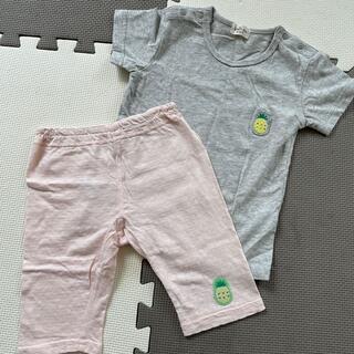 パイナップル Tシャツ パンツ 2枚セット 95センチ(Tシャツ/カットソー)