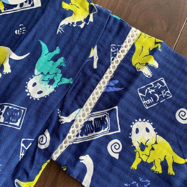 kladskap(クレードスコープ)のkladskap 甚平 恐竜柄 110〜120cm ネイビー キッズ/ベビー/マタニティのキッズ服男の子用(90cm~)(甚平/浴衣)の商品写真
