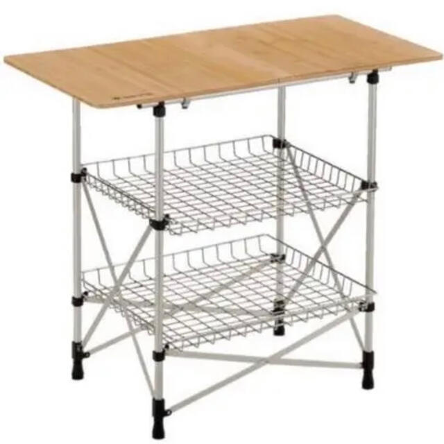 Snow Peak(スノーピーク)のタコさん専用 スノーピーク フィールドキッチン テーブル竹 スポーツ/アウトドアのアウトドア(テーブル/チェア)の商品写真