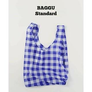 エディットフォールル(EDIT.FOR LULU)のビッグ チェック ブルー BAGGU  baguu エコバッグ スタンダード(エコバッグ)