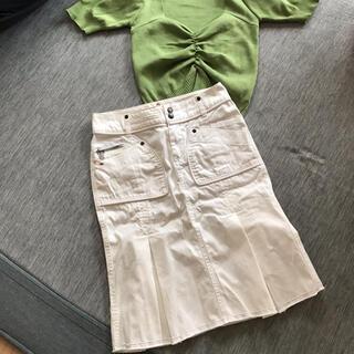 ディーゼル(DIESEL)の【Diesel】ホワイトデニムスカート (ひざ丈スカート)