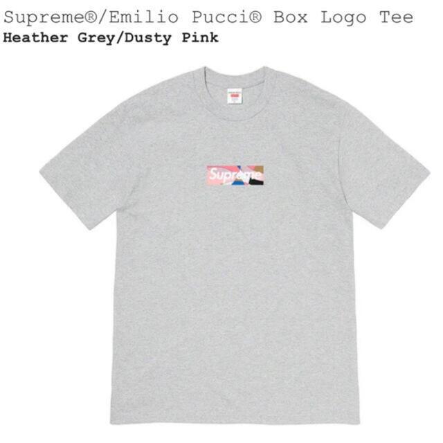 Supreme(シュプリーム)のSupreme Emilio Pucci Box Logo Tee グレーピンク メンズのトップス(Tシャツ/カットソー(半袖/袖なし))の商品写真