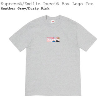 Supreme - Supreme Emilio Pucci Box Logo Tee グレーピンク