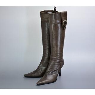 ダイアナ(DIANA)の美品◎DIANA ダイアナ*本革ポインテッドトゥ*ブーツ22cm /RB29(ブーツ)