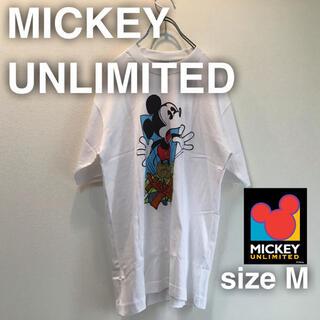 ミッキーマウス(ミッキーマウス)のMICKEY UNLIMITED ディズニー Tシャツ プリント ホワイト M (Tシャツ/カットソー(半袖/袖なし))