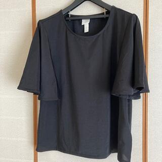 エイチアンドエム(H&M)のH&M フレアー袖 黒 カットソー 未使用(カットソー(半袖/袖なし))