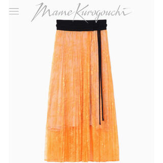 mame - マメ mame シアーレーススカート オレンジ