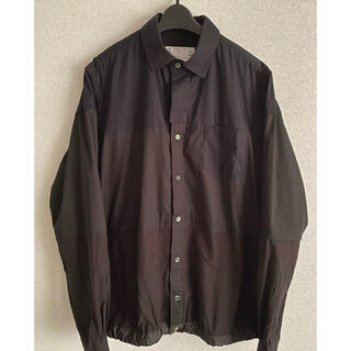 sacai - 美品 Sacai Cotton Poplin Shirt ブラック サイズ2