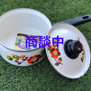 象印 - ⑤琺瑯鍋 ホーロー片手鍋18センチ 象印