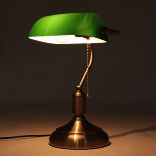 バンカーズランプ デスクライト テーブルランプ 照明 デスクランプ 緑8011