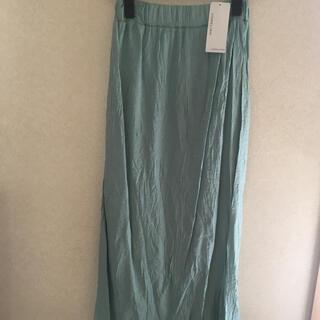 UNRELISH - 新品 UNRELISH ワッシャー スカート ロング 38 M グリーン