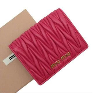 miumiu - miumiu ミュウミュウ 二つ折り 財布