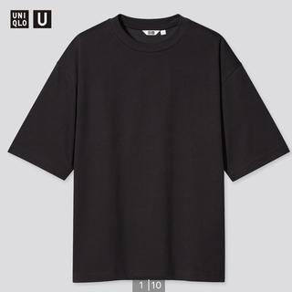 UNIQLO - ユニクロユー エアリズムコットンオーバーサイズTシャツ XL ブラック