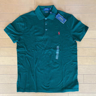 ポロラルフローレン(POLO RALPH LAUREN)の新品タグ付き ラルフローレン 定番ポロシャツ グリーン Mサイズ(ポロシャツ)