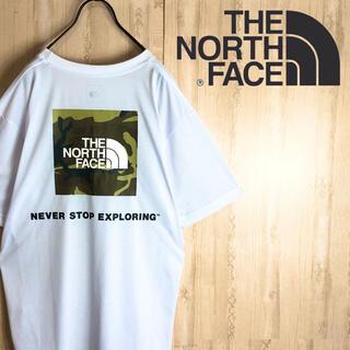 ザノースフェイス(THE NORTH FACE)のNORTH FACE ノースフェイス Tシャツ 大きめ 迷彩 両面ロゴ 美品(Tシャツ/カットソー(半袖/袖なし))