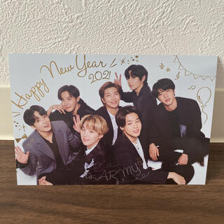 ボウダンショウネンダン(防弾少年団(BTS))のBTS FC特典 2021年Happy  New Yearカード(K-POP/アジア)